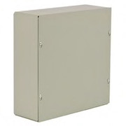 "Wiegmann® - Junction Box - 24-1/8 x 24-1/8 x 6-3/16"" Pre-Galvanized Steel and Plastic Wall Mount Screw Cover - Beige"