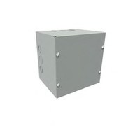 "Wiegmann® - Junction Box - 10-1/8 x 10-1/8 x 4-3/16"" Pre-Galvanized Steel and Plastic Screw Cover Pull Box Enclosure - Beige"
