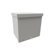 "Wiegmann® - Junction Box - 6-1/8 x 6-1/8 x 6-3/16 "" Carbon Steel, Pre-Galvanized Steel and Plastic Screw Cover Enclosure - Beige"