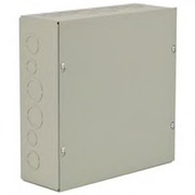 "Wiegmann® - Junction Box - 12-1/8 x 12-1/8 x 10-3/16"" Pre-Galvanized Steel and Plastic Wall Mount Screw Cover - Beige"