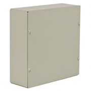 "Wiegmann® - Junction Box - 24-1/8 x 24-1/8 x 8-3/16 "" Pre-Galvanized Steel and Plastic Wall Mount Screw Cover - Beige"