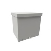 "Wiegmann® - Junction Box - 18-1-8 x 18-1-8 x 6-3-16"" Carbon Steel, Pre-Galvanized Steel and Plastic Screw Cover Enclosure - Beige"