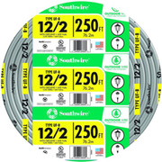 Southwire® - Cable - 250 ft. 12 Ga 2-Conductor Plastic Building Cable in Grey