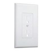 "Other Manufacturers - Receptacle Cover - 5"" 1-Gang Wall Plate in White 5 Pack"
