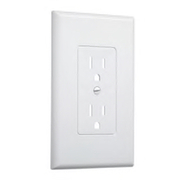 "HUBBELL® - Receptacle Cover - 5"" 1-Gang Wall Plate in White 5 Pack"