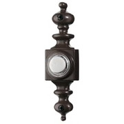 Broan® - Door Chime - Wired Lighted Door Chime Push Button, Oil-Rubbed Bronze