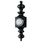 Broan® - Door Chime - Push Button Wired Lighted Door Chime Push Button, Black