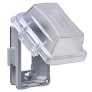 Taymac® - Receptacle Cover - 1 Gang 16 in 1 in-Use Cover Clear
