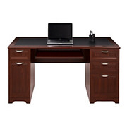 """Realspace® - Desk - Magellan Collection Managers Desk 23 1/4"""" d x 30"""" h x 58 3/4"""" w - Classic Cherry"""