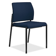 "HON® - Chair - Accommodate Guest Chair - Chair, Guest, Armless, - Set of 2 - 22-1/3"" D x 31-1/2"" h x 23-1/2"" w - Navy/black - CT of 2"
