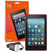 "Amazon - Tablet - Fire 7 Tablet - 7"" - 1 GB Quad-Core (4 Core) 1.30 Ghz - 8 GB - Fire OS 5 - 1024 x 600 - in-Plane Switching (Ips) Technology - Punch Red"