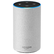 Amazon - WLAN wireless access network equipment a - Echo Smart Speaker - Heather Gray
