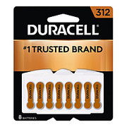 Duracell® - Battery - 1.4 Volt Zn-Air Hearing Aid Batteries with Easytab - Battery, Hearing Aid, 312,8pk - CA of 2