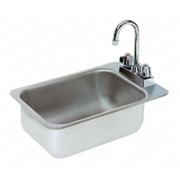 """Advance Tabco® - Service Sink - 10"""" x 14"""" x 5"""" - 1 Compartment Drop in Sink"""