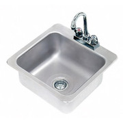 """Advance Tabco® - Service Sink - 16 x 14"""" x 8"""" - 1 Compartment Drop in Sink"""