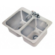 """Advance Tabco® - Service Sink - 10"""" x 14"""" x 10"""" - 2 Compartment Drop in Sink"""