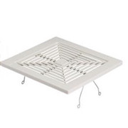 Broan® - Bathroom Fan Grill - LLC - 9 x 9-1-2 Plastic Exhaust Fan Grill White - CA of 2