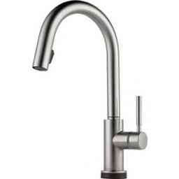 Delta Faucet Kitchen Faucet 1 Handle One Hole Pull Down Kitchen Faucet 1 8 Gpm Stainless Steel