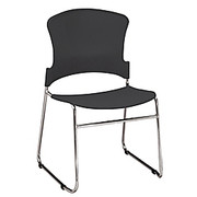 """OFM - Stacking Chair - Stack Chair 33"""" h x 21"""" w x 22"""" d, Black, Pk/4 - CT of 4"""