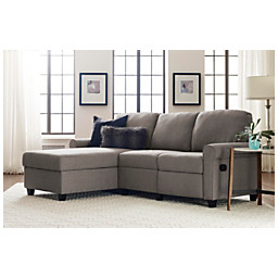 Miraculous Serta Sofa Copenhagen Reclining Sectional With Storage Chaise 36 H X 89 W X 36 5 8 D Fabric Gray Espresso Gmtry Best Dining Table And Chair Ideas Images Gmtryco