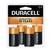 Duracell® - Battery - Coppertop C Alkaline Batteries - Battery, Alkln, C, 1.5V, 4/PK - CA of 12/pk