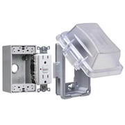 HUBBELL® - Receptacle Cover - Non-Metallic in-Use Cover in Clear