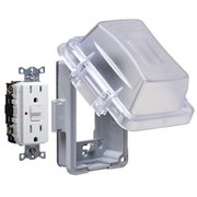 HUBBELL® - Receptacle Cover - Non-Metallic in-Use Cover in Clear MG420CS