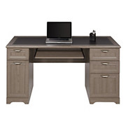 """Realspace® - Desk - Magellan Collection Managers Desk 23-1/4"""" d x 30"""" h x 58-3/4"""" w - Gray"""