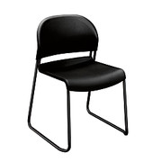 """HON® - Chair - Gueststacker 4030-Series Chairs 31"""" h x 21"""" w x 21 1/2"""" d - Set of 4, Black"""