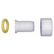 """Green Leaf - Hose Fitting - 3/4"""" Fght x 1/4 Barb Three Piece Barb Assembly - CA of 12"""