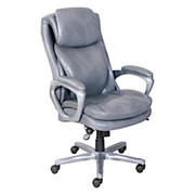 """Serta® - Chair - Smart Layers Air Arlington Faux Leather Executive Chair - 5"""" H x 27 1/2"""" W x 31 1/4"""" D, - Gray/pewter"""