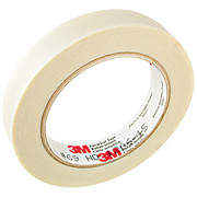 """3M™ - Electrical Tape - 69 Glass Cloth Electrical Tape T963069 3"""" Core, 0.5"""" x 66 ft, White, Ca/ 50 - CA of 50"""