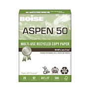"Boise® - Copy Paper - ASPEN® Multipurpose Paper, 8 1/2"" x 11in, 20 lb, 50% Recycled, Fsc Certified, Ream of 500 Sheets - ASPEN® Multipurpose Paper"