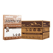 Boise® - Copy Paper - ASPEN® Multipurpose Paper, Letter Paper Size, 20 lb, 100% Recycled FSC® Certified, 500 Sheets Per Ream, Case of 10 Reams