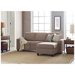 Fabulous Serta Sofa Palisades Reclining Sectional With Storage Chaise Right Reclining 36 H X 89 W X 33 D Fabric Oatmeal Espresso Gmtry Best Dining Table And Chair Ideas Images Gmtryco