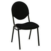 """Realspace® - Stacking Chair - Stacking Banquet Chair, 34"""" h x 18"""" w x 24-1/4"""" d, Black/black"""