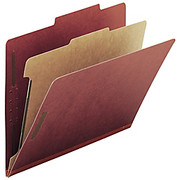 """Smead® - Folders - 100% Recycled Pressboard Colored Classification Folders - Letter - 8 1/2"""" x 11in Sheet Size - 2"""" Expansion - 4 Fastener(S) - 2"""" Fastener Capacity for Folder"""
