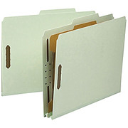 """Smead® - Folders - 100% Recycled Pressboard Colored Classification Folders - Letter - 8 1/2"""" x 11in Sheet Size - 2"""" Expansion - 4 Fastener(S) - 1"""" Fastener Capacity"""