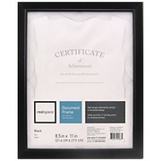 "Realspace® - Award Frame - Photo Frame, Cornell, 8 1/2"" x 11"", Black"