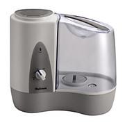 "Holmes® - Humidifiers - Filter-Free Warm Mist Humidifier - 1.17 gal - 15.9 x 29 x 14.6"" - Gray"