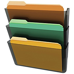 Deflect-O® - File Bin - Stackable Wall File Pocket 3 Pack, 14