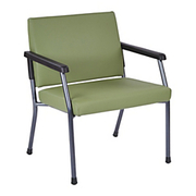 "WorkSmart™ - Big & Tall Chair - Bariatric Sage Antimicrobial Vinyl Guest Chair - 34-1/2"" h x 28-1/2"" w x 27"" d - Weight Capacity Tested to Support 400 lb"