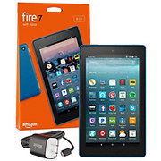 "Amazon - Tablet computers - Fire 7 Tablet - 7"" - 1 GB Quad-Core (4 Core) 1.30 Ghz - 8 GB - Fire OS 5 - 1024 x 600 - in-Plane Switching (Ips) Technology - Marine Blue"
