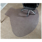 "Realspace® - Floor Mat - L-Shaped Workstation Chair Mat, 66"" w x 60"" d, Clear"