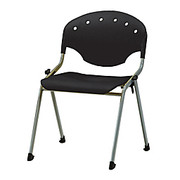 """OFM - Stacking Chair - Rico Stacking Chair - 31"""" h x 24"""" w x 22-1/2"""" d - Black/chrome - CT of 6"""