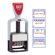 2000 Plus® - Stamps - Self-Inking Date and 4 Phrase Stamp