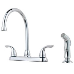 Price Pfister Kitchen Faucet 1 8 Gpm 2 Handle Kitchen Faucet With Spray Pc