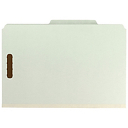 """Smead® - Folder - 100% Recycled Pressboard Colored Classification Folders - 3"""" Folder Capacity - Legal - 8 1/2"""" x 14"""" Sheet Size - 3"""" Expansion - 2 Fastener(S) - 2/5 Tab Cut - Right of Center Tab Location - 25 pt. Folder Thickness - Pressboard - Gray"""