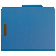 "Smead® - Folder - 100% Recycled Pressboard Colored Classification Folders - Letter - 8 1/2"" x 11in Sheet Size - 2"" Expansion - 2 x 2k Fastener(S) - 2/5 Tab Cut - Right of Center Tab Location - 2 Divider - 25 pt. Folder Thickness - Pressboard - Dark B"