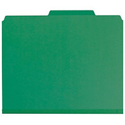 """Smead® - Folders - 100% Recycled Pressboard Colored Classification Folders - Letter - 8 1/2"""" x 11in Sheet Size - 2"""" Expansion - 2 x 2k Fastener(S) - 2/5 Tab Cut - Right of Center Tab Location - 2 Divider - 25 pt. Folder Thickness - Pressboard - Green"""